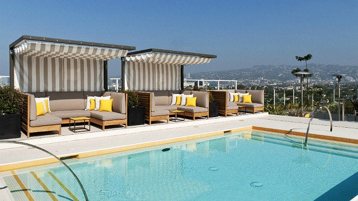 Rooftop pool at Hotel Wilshire